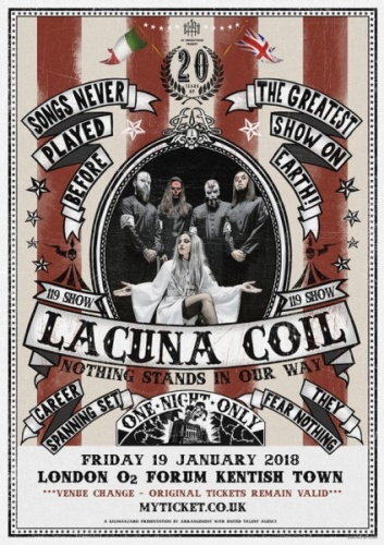 download Lacuna.Coil.-.The.119.Show.-.Live.In.London.(2018,.DVD9)