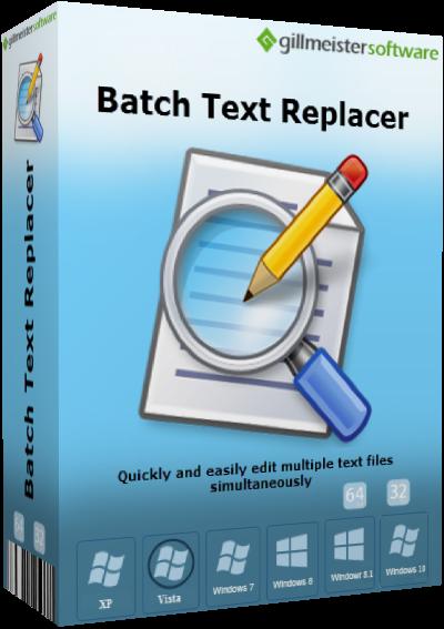 Gillmeister Batch Text Replacer v2.13.0 + Portable