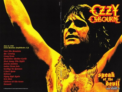 Ozzy Osbourne - Speak Of The Devil 1982 (2012, DVD9)