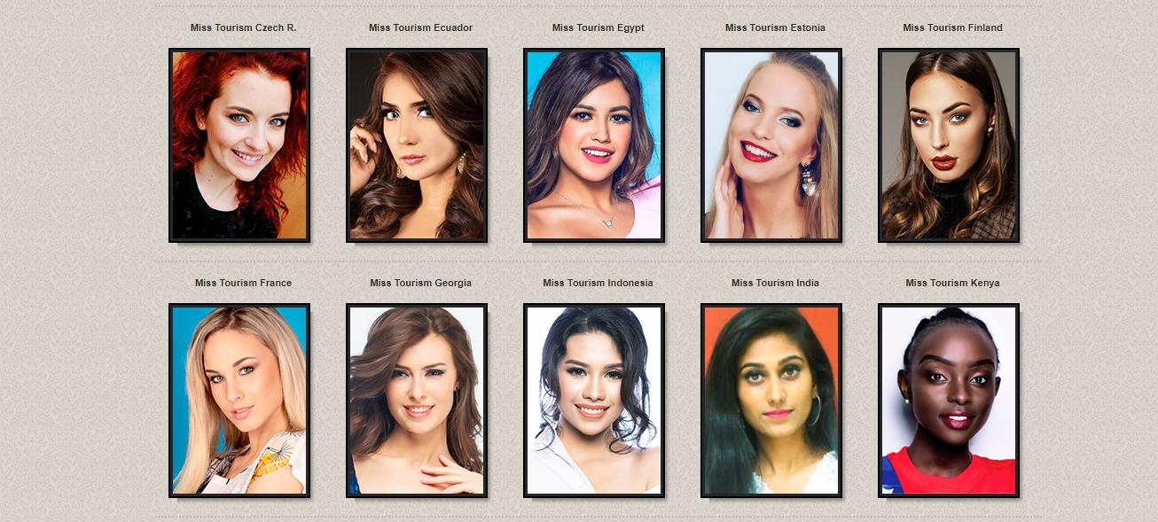 candidatas a miss tourism international 2018. final: 21 dec. sede: malaysia. (ultimo concurso de 2018). Bqdjc6ib