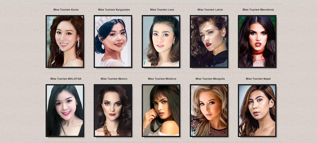 candidatas a miss tourism international 2018. final: 21 dec. sede: malaysia. (ultimo concurso de 2018). Kd2zruvj