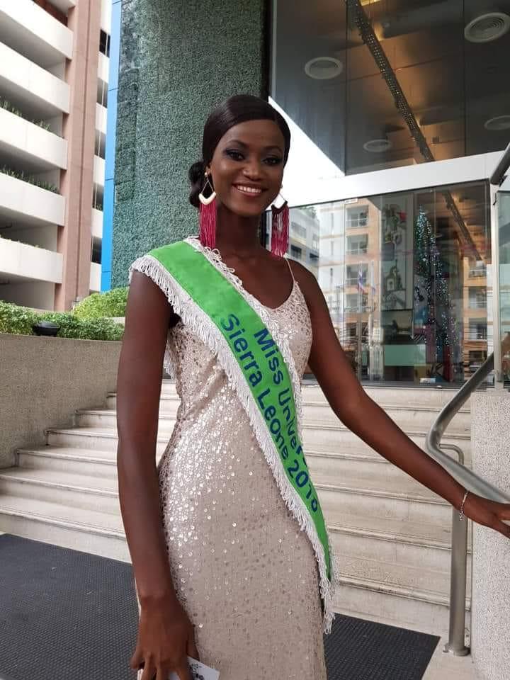 finalmente, miss sierra leone em thailand (mas no esta participando de miss universe 2018). 3qheraes