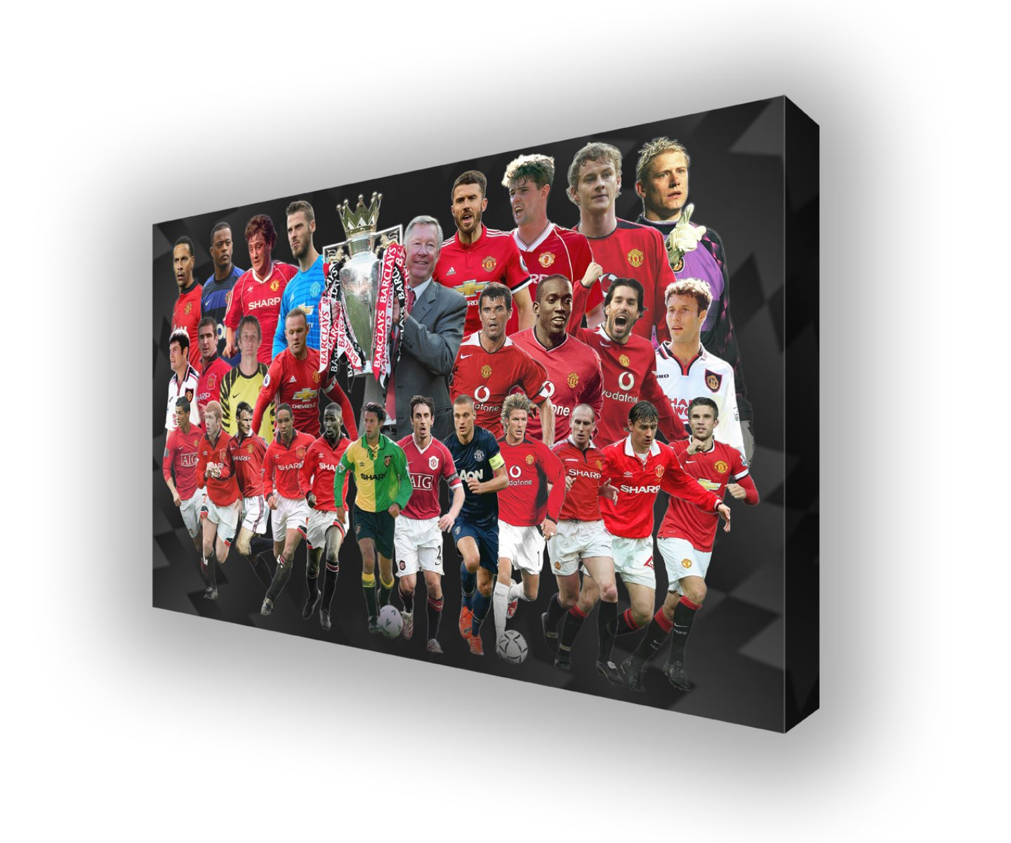 Manchester United Premier League Heroes Wall Canvas