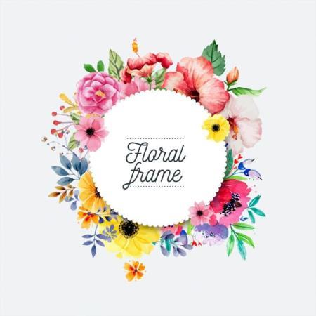 Deep House Floral Frame (2019)